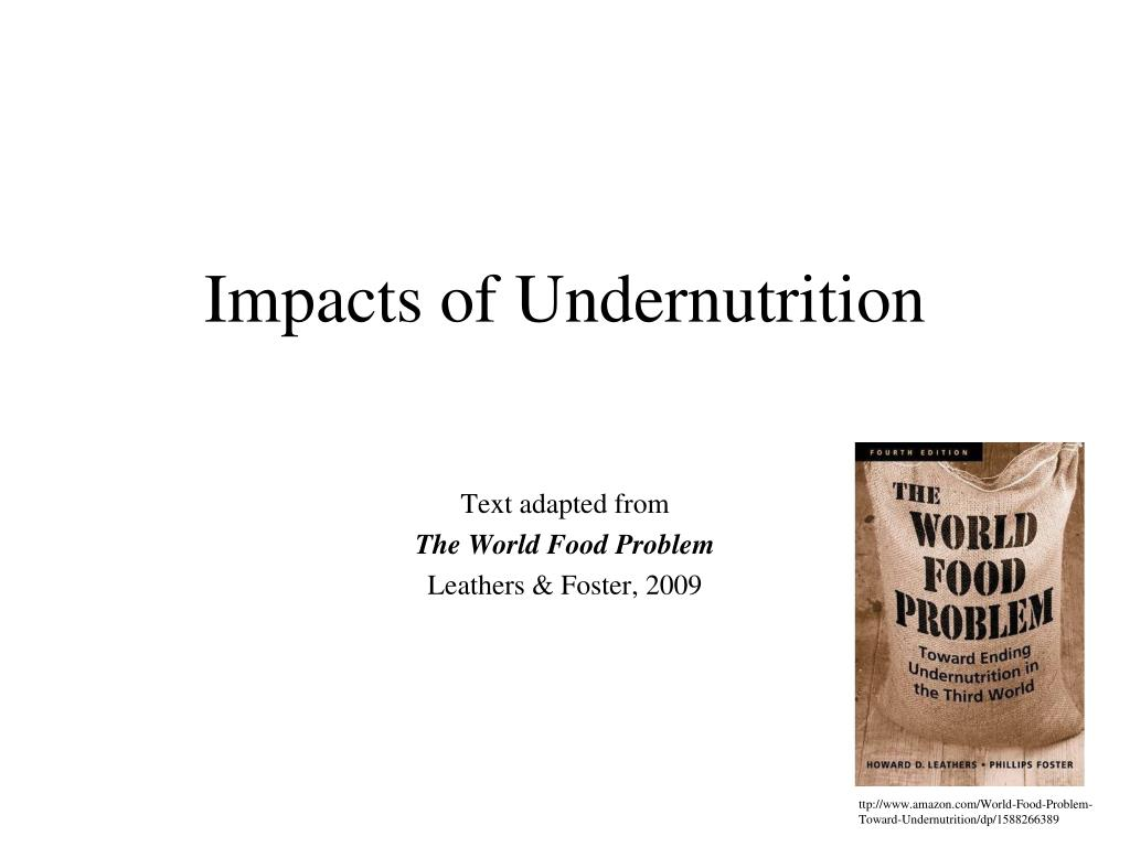 impacts of undernutrition l.