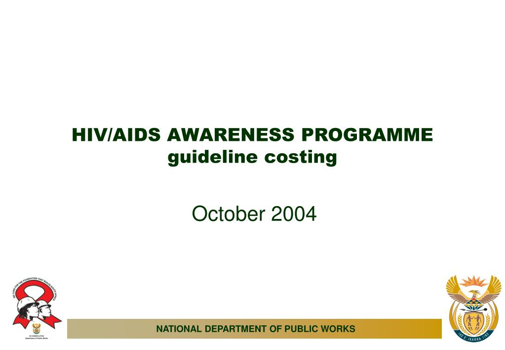 hiv aids awareness programme guideline costing l.