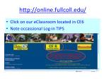 http online fullcoll edu