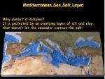 mediterranean sea salt layer