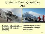 qualitative versus quantitative data