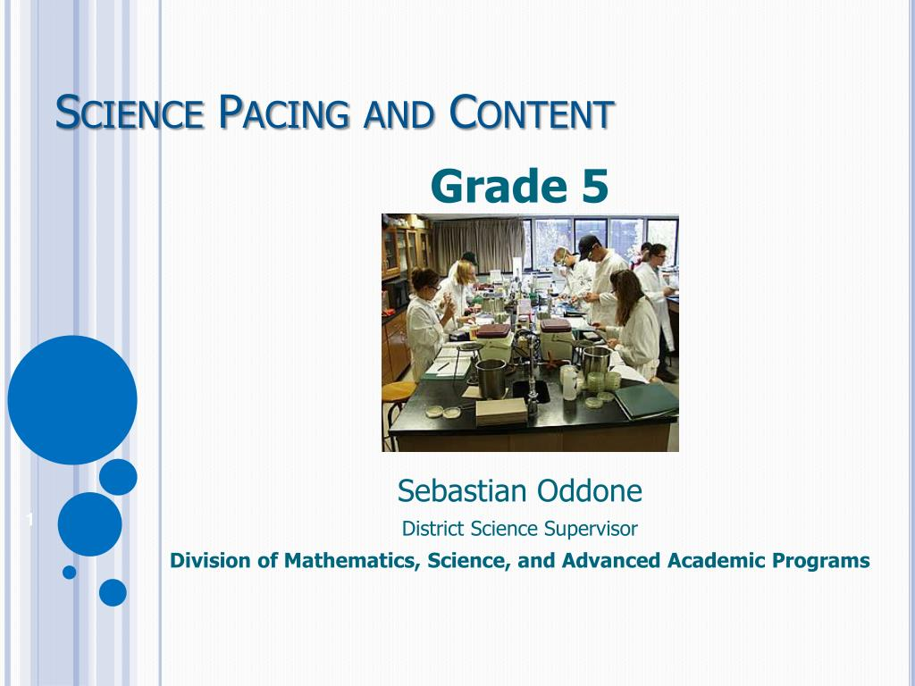 science pacing and content l.
