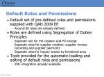 default roles and permissions