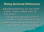 rising sectional differences30