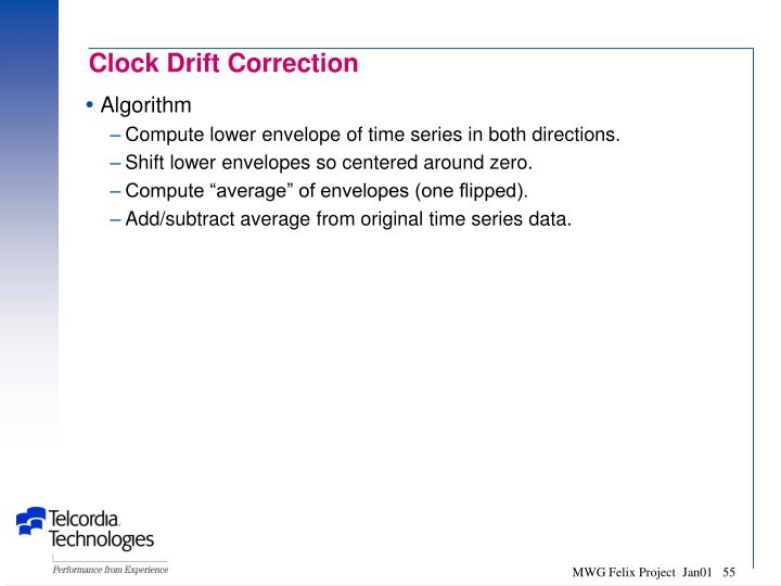 Clock Drift Correction