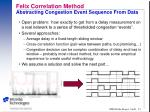 felix correlation method abstracting congestion event sequence from data