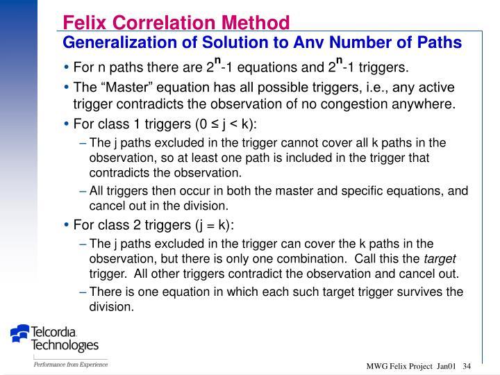 Felix Correlation Method
