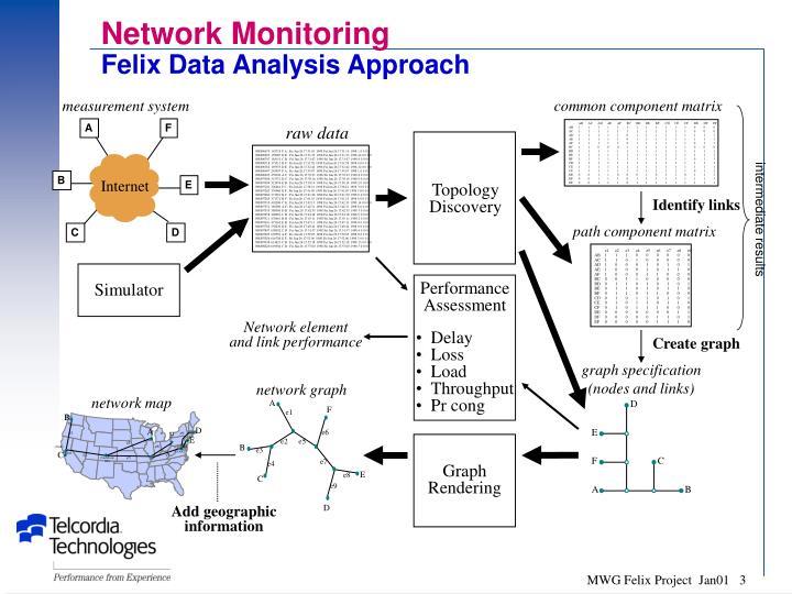 Network monitoring felix data analysis approach