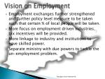 vision on employment