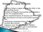 vision on land reforms