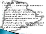 vision on reforms