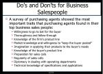 do s and don ts for business salespeople