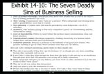 exhibit 14 10 the seven deadly sins of business selling