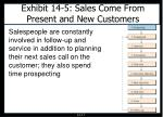 exhibit 14 5 sales come from present and new customers