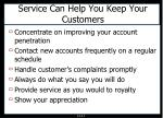 service can help you keep your customers