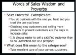 words of sales wisdom and proverbs