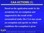caa actions 1