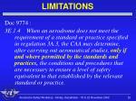 limitations