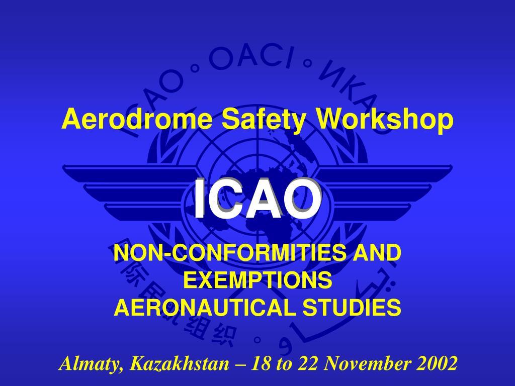 non conformities and exemptions aeronautical studies l.