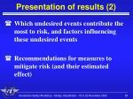 presentation of results 2