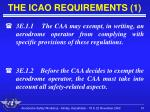 the icao requirements 1