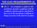 the icao requirements 2