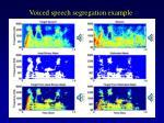 voiced speech segregation example