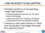 link budget evaluation
