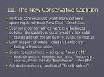 iii the new conservative coalition