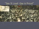 say it loud gay is proud