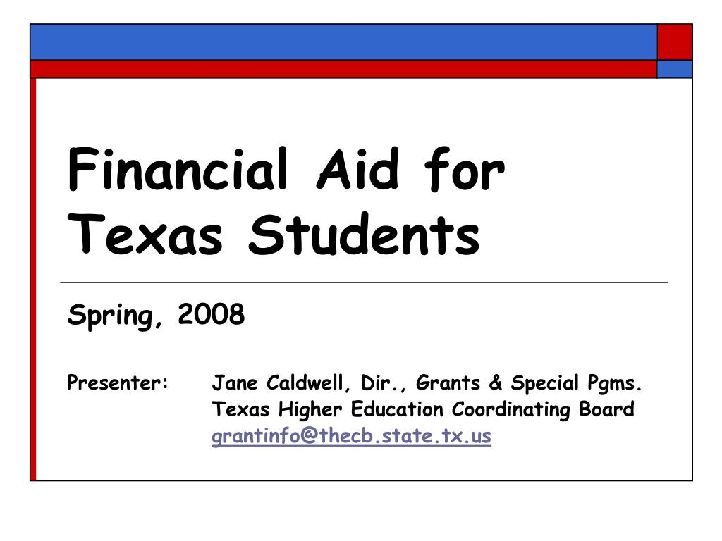 financial aid for texas students l.
