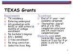 texas grants