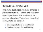 trends in state aid