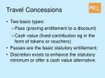 travel concessions