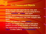 c classes and objects