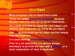 c input