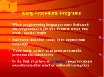 early procedural programs