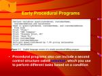 early procedural programs11