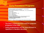 early procedural programs12