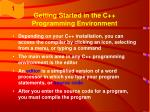 getting started in the c programming environment