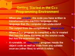 getting started in the c programming environment25