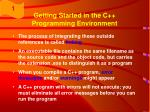 getting started in the c programming environment26