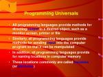 programming universals