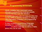 programming universals7