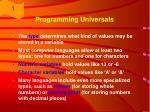 programming universals8