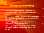 the task of programming5