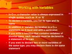 working with variables34