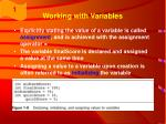 working with variables35