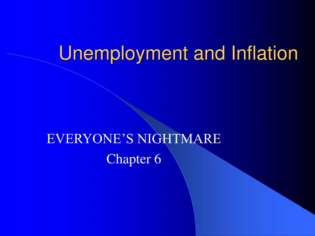 unemployment and inflation l.