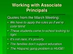 working with associate principals